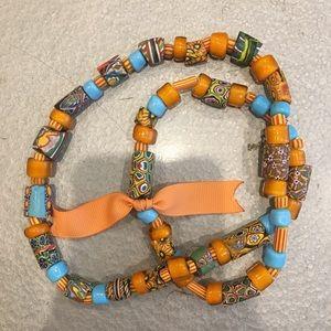 Italian glass beaded necklace- handmade